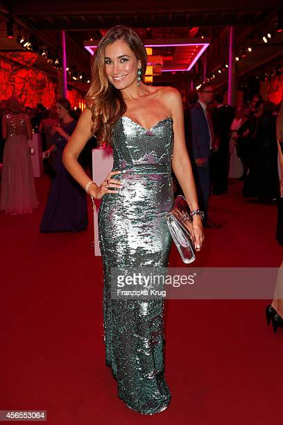Jana Ina Zarella attends the Deutscher Fernsehpreis 2014 after show party on October 02 2014 in Cologne Germany
