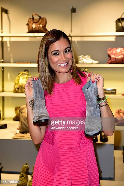 Jana Ina Zarella attends the Late Night Shopping at Designer Outlet Soltau on August 21 2015 in Soltau Germany