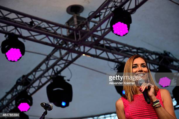 Jana Ina Zarella attends the Late Night Shopping at Designer Outlet Soltau on August 21, 2015 in Soltau, Germany.