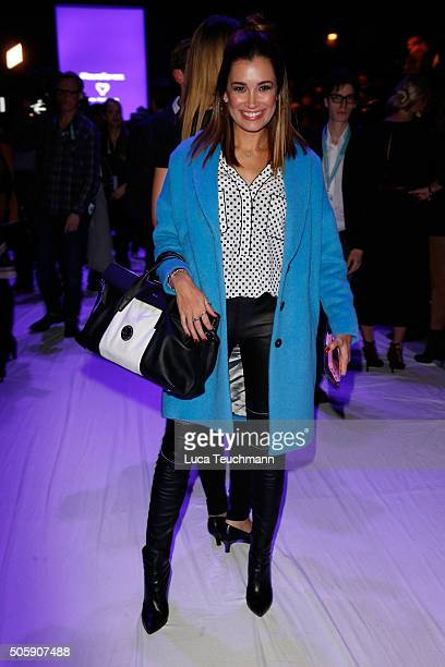 Jana Ina Zarella attends the Laurel show during the Mercedes-Benz Fashion Week Berlin Autumn/Winter 2016 at Brandenburg Gate on January 20, 2016 in...