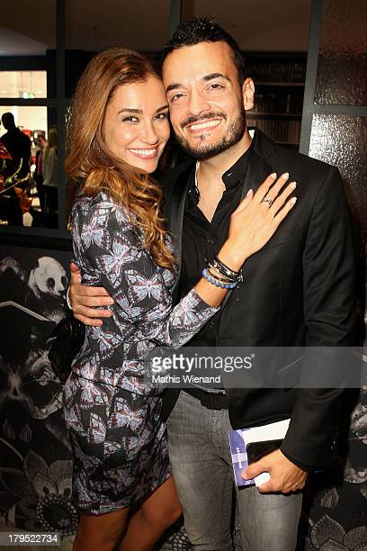 Jana Ina Zarrella and Giovanni Zarrella attend the 'Feel London By Karstadt' Launch Event at Karstadt Store Duesseldorf on September 4 2013 in...