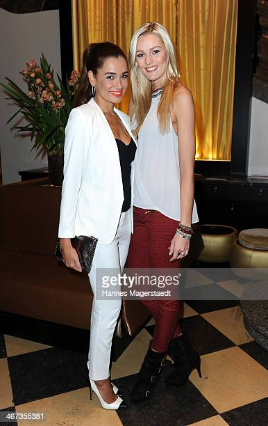 Jana Ina Zarrella and Miriam Hoeller attend the Ernsting's Family Fashion Dinner at Rilano No 6 on February 6 2014 in Munich Germany