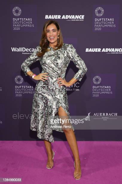 Jana Ina Zarrella attends the German Perfume Awards Duftstars 2020 at Rheinterrasse on November 10, 2020 in Duesseldorf, Germany.