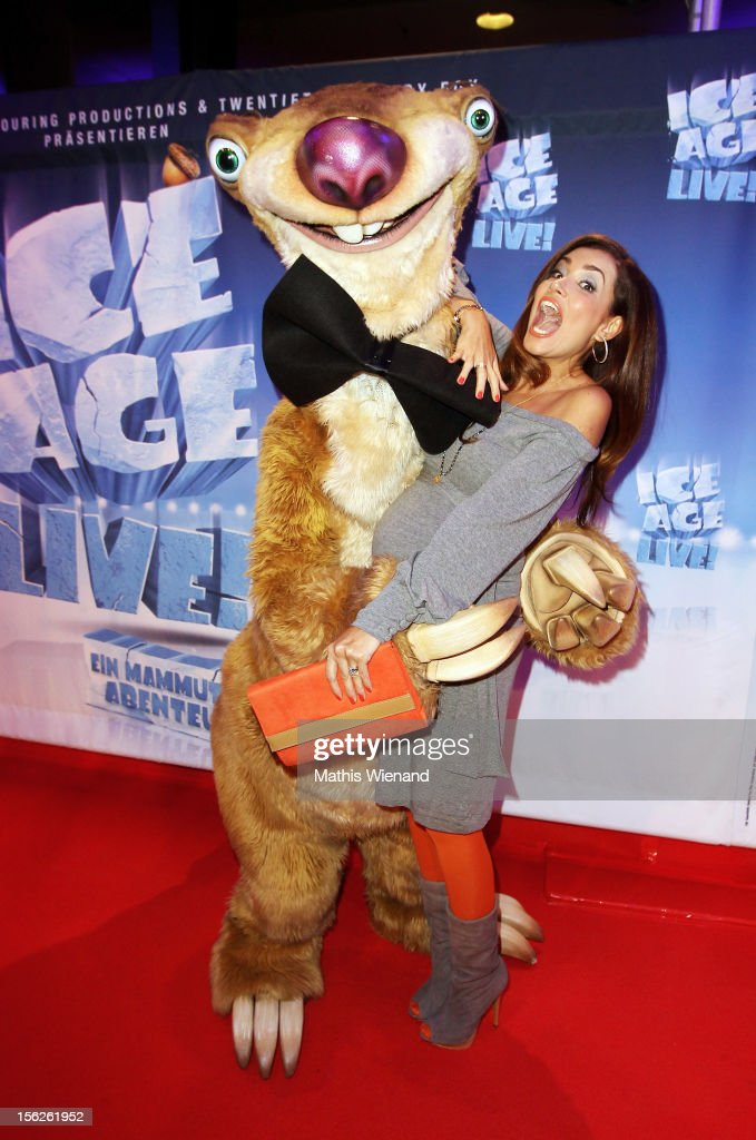 Jana Ina Zarrella attends the Ice Age Live! gala premiere at ISS Dome on November 12, 2012 in Duesseldorf, Germany.