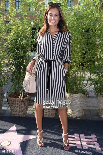 Jana Ina Zarrella attends the Riani show during the Berlin Fashion Week Spring/Summer 2019 at ewerk on July 4 2018 in Berlin Germany