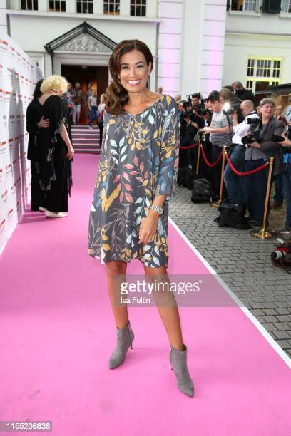 Jana Ina Zarrella during the Ernsting's family Fashion Show 2019 on July 11, 2019 in Hamburg, Germany.