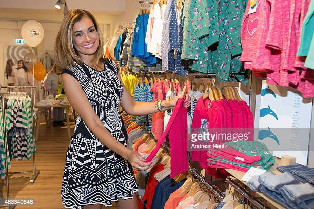 Jana Ina Zarrella seen shopping during the first anniversary celebrations of the City Outlet Bad Muenstereifel on August 7 2015 in Bad Muenstereifel...