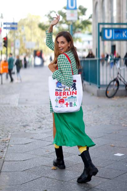 DEU: Jana Ina Zarrella Street Style Shoot In Berlin