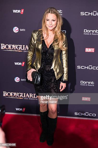 Jana Julie Kilka attends the 'Bodyguard Das Musical' gala premiere at Musical Dome Koeln on November 21 2015 in Cologne Germany