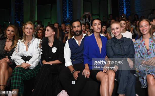 Jana Julie Kilka Caro Cult Lisa Tomaschewsky Massimo Sinato Rebecca Mir Anna Maria Muehe and Sonja Gerhardt attend the Riani show during the Berlin...