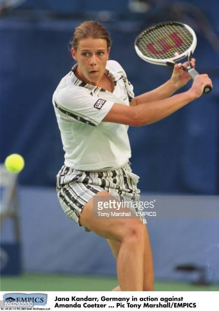 Jana Kandarr Germany in action against Amanda Coetzer