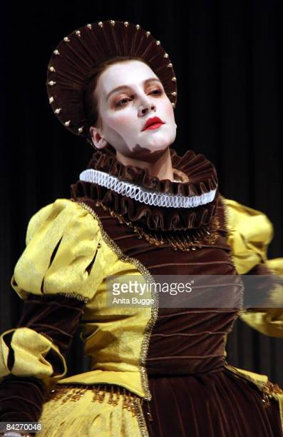 Jana Klinge as Rosalind during the dress rehearsal of 'Wie Es Euch Gefaellt' by William Shakespeare directed by Katharina Thalbach at the Komoedie am...