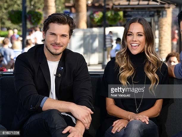 Jana Kramer and Gleb Savchenko visit Extra at Universal Studios Hollywood on October 21 2016 in Universal City California