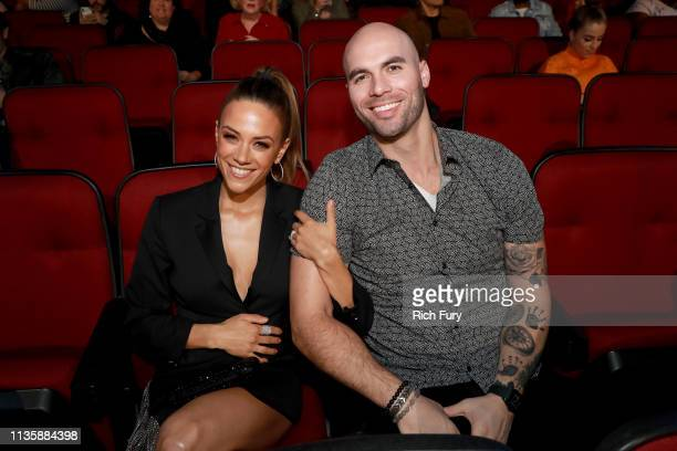 Jana Kramer and Mike Caussin attend the 2019 iHeartRadio Music Awards which broadcasted live on FOX at the Microsoft Theater on March 14, 2019 in Los...