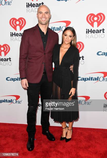 Jana Kramer and Mike Caussin attend the iHeartRadio Podcast Awards Presented By Capital One at iHeartRadio Theater on January 18 2019 in Burbank...