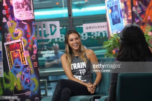 Jana Kramer attends Build Series to discuss her fitness routine with Celebrity Trainer Erin Oprea at Build Studio on October 23, 2019 in New York...