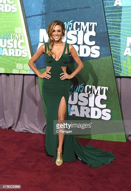 Jana Kramer attends the 2015 CMT Music awards at the Bridgestone Arena on June 10, 2015 in Nashville, Tennessee.