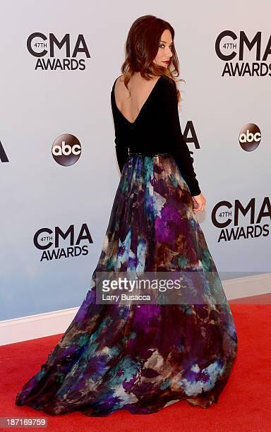 Jana Kramer attends the 47th annual CMA Awards at the Bridgestone Arena on November 6 2013 in Nashville Tennessee