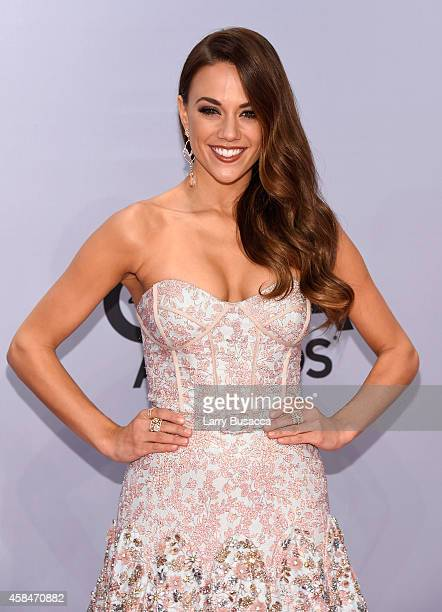 Jana Kramer attends the 48th annual CMA Awards at the Bridgestone Arena on November 5 2014 in Nashville Tennessee