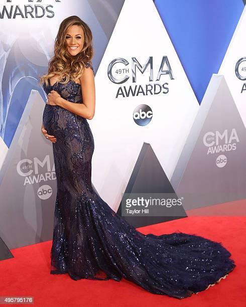 Jana Kramer attends the 49th annual CMA Awards at the Bridgestone Arena on November 4 2015 in Nashville Tennessee