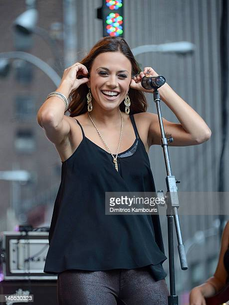 Jana Kramer performs during 'FOX Friends' All American Concert Series at FOX Studios on June 1 2012 in New York City