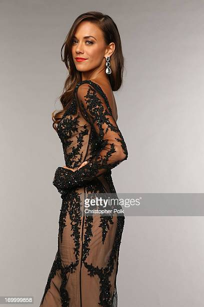 Jana Kramer poses at the Wonderwall portrait studio during the 2013 CMT Music Awards at Bridgestone Arena on June 5 2013 in Nashville Tennessee