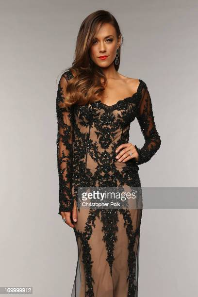 Jana Kramer poses at the Wonderwall portrait studio during the 2013 CMT Music Awards at Bridgestone Arena on June 5 2013 in Nashville Tennessee