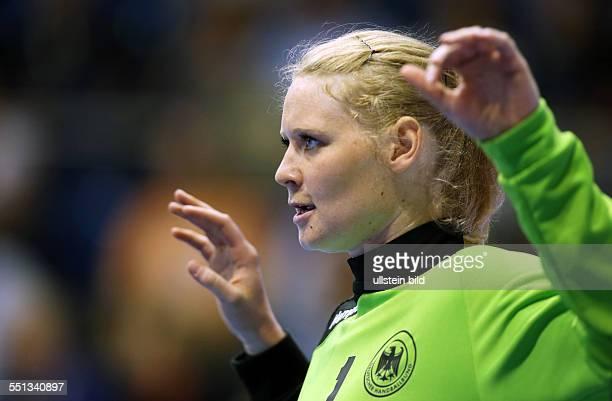 Jana Krause Torfrau Einzelbild Aktion BR Deutschland DHB Laenderspiel Länderspiel EM Qualifikation Europmeisterschaft Nationalmannschaft Sport...