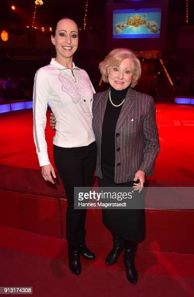 Jana LaceyKrone and Margot Hellwig during Circus Krone celebrates premiere of 'Hommage' at Circus Krone on February 1 2018 in Munich Germany