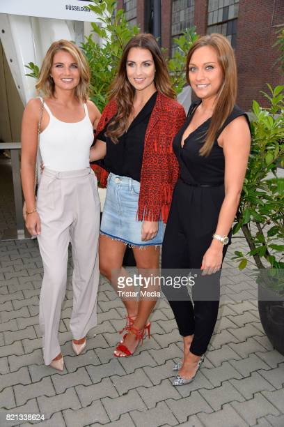 Jana Laura Wontorra and Madlen Maroh attend the Thomas Rath show during Platform Fashion July 2017 at Areal Boehler on July 23 2017 in Duesseldorf...