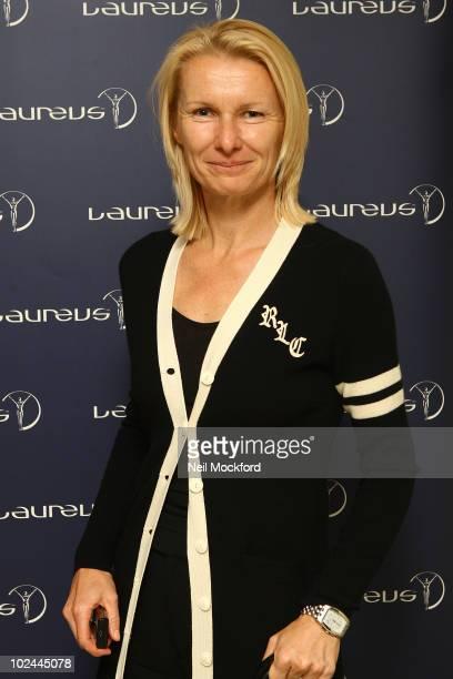 Jana Novotna attends party hosted by Martina Navratilova at Westbury Hotel on June 26, 2010 in London, England.