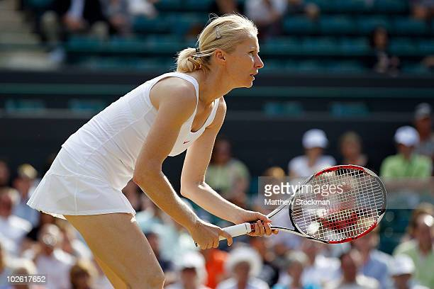 Jana Novotna of Czech Republic in action during the Ladies Invitational Doubles Final against Tracy Austin and Kathy RinaldiStunkel of USA on Day...