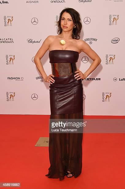 Jana Pallaska attends Kryolan at the Bambi Awards 2014 on November 13 2014 in Berlin Germany