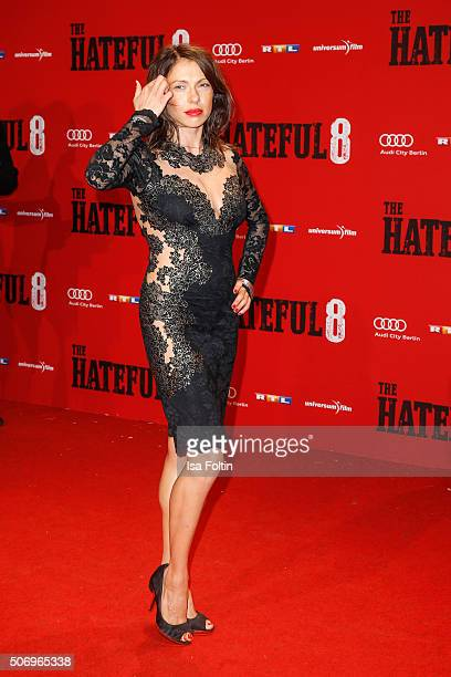 Jana Pallaske attends the premiere of 'The Hateful 8' at Zoo Palast on January 26 2016 in Berlin Germany