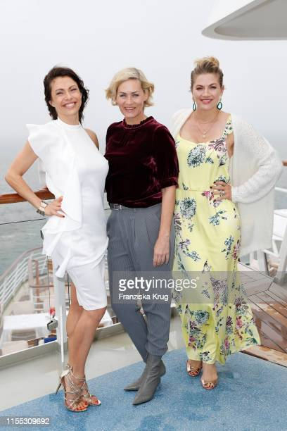 Jana Pallaske Gesine Cukrowski and Nina Bott during the MS Europa meets Sansibar cruise on July 12 2019 in Sylt Germany