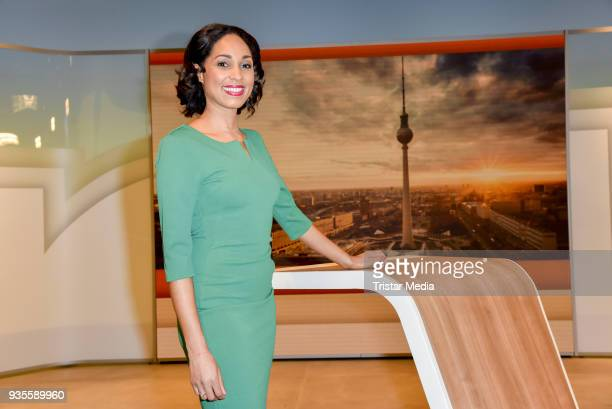 Jana Pareigis during the ZDF Mittagsmagazin photo call on March 21, 2018 in Berlin, Germany.