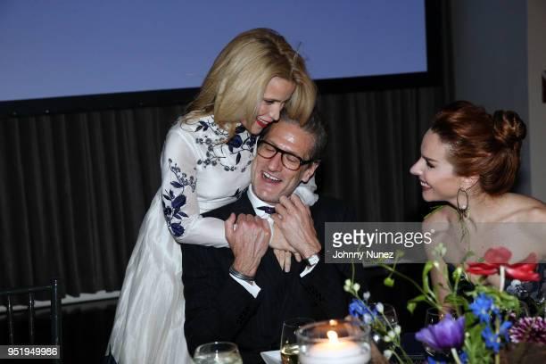 Jana Pasquel de Shapiro Robert Norton and Eglantina Zingg attend the 2018 Glasswing International Gala at Tribeca Rooftop on April 26 2018 in New...