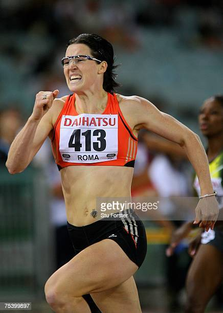 Jana Rawlinson of Australia clears the last hurdle to win the Womens 400 metres Hurdles during the IAAF Golden Gala at The Olympic Stadium on July 13...