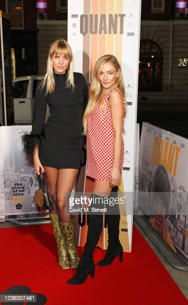 """Jana Sascha Haveman and Clara Paget attend a special screening of """"Quant"""" at The Everyman Chelsea on October 20, 2021 in London, England."""