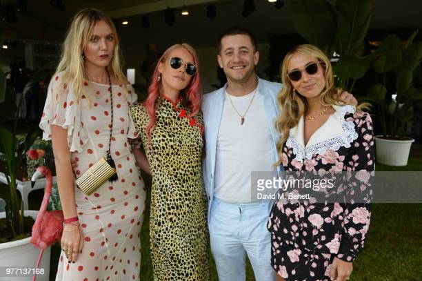 Jana Sascha Haveman Lady Mary Charteris Tyrone Wood and Harley VieraNewton attend the Cartier Queen's Cup Polo Final at Guards Polo Club on June 17...