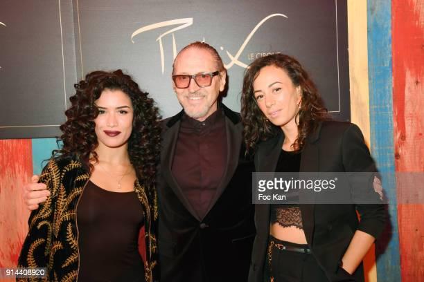 Janane Boudili Alain Pacherie from Cirque Phenix and Sabrina Ouazani attend 39th 'Festival Mondial Du Cirque de Demain' Awards Ceremony At Cirque...
