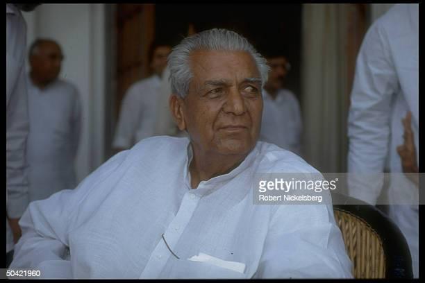 Janata Dal's Devi Lal, former Dep. PM in V.P. Singh's Natl. Front govt.