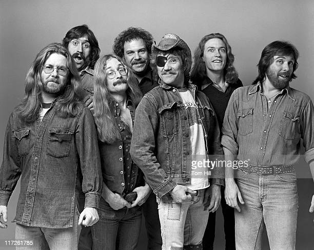 Jance Garfat Billy Francis Rik Elswit Jay David Ray Sawyer unidentified guitarist and Dennis Locorriere of Doctor Hook *EXCLUSIVE*