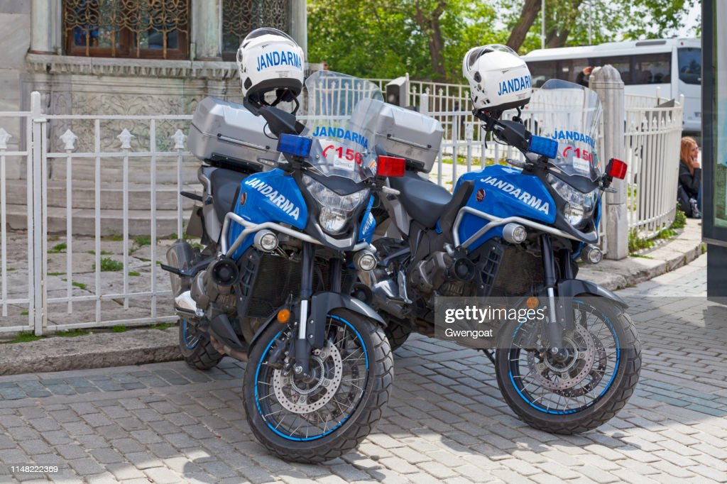 Jandarma motorcycles : Stock Photo
