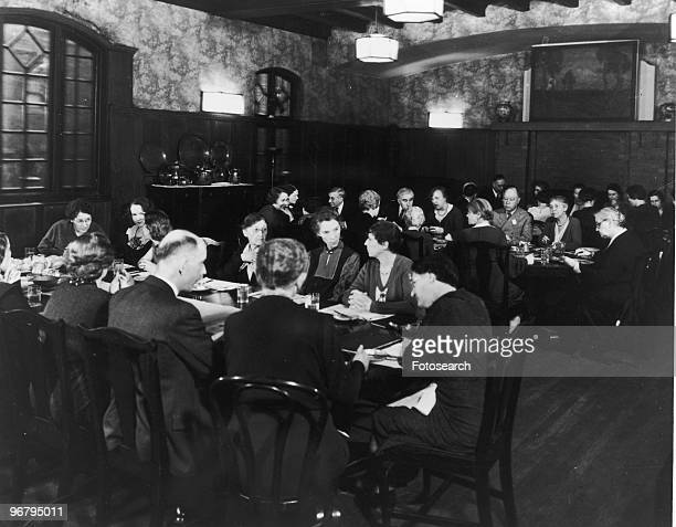 Jane Addams with colleagues at Hull House circa 1920