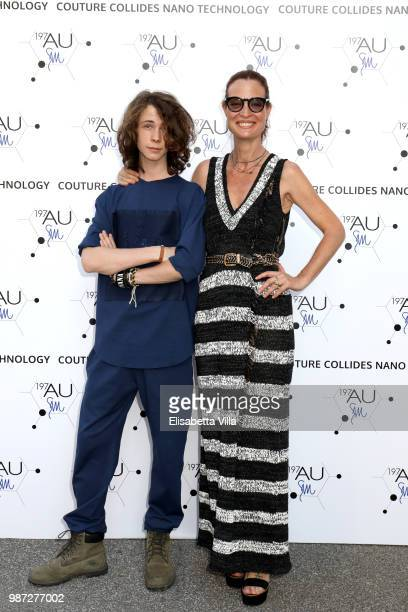 Jane Alexander and Damiano Alexander attend Sfilata AU197SM AltaRoma on June 29 2018 in Rome Italy
