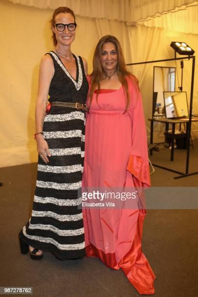 Jane Alexander and Paola Emilia Monachesi attend Sfilata AU197SM AltaRoma on June 29 2018 in Rome Italy