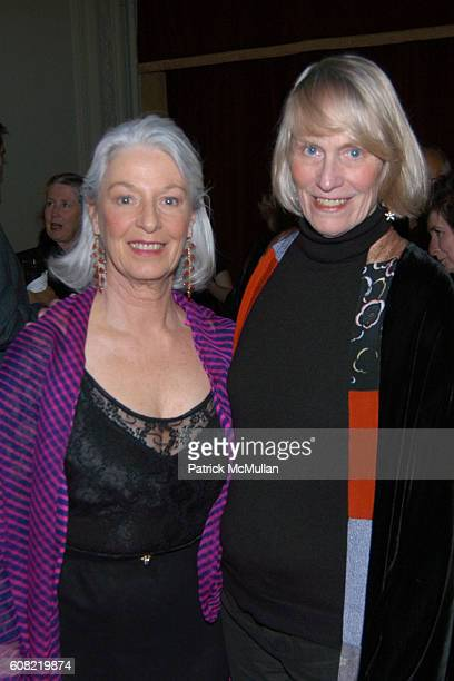 Jane Alexander and Tina Howe attend CURTAIN UP Celebrating SARAH LAWRENCE COLLEGE Retiring President MICHELE MYERS at The Hudson Theatre on April 16...