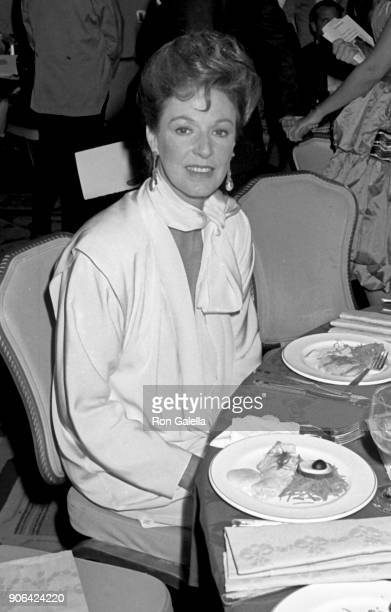 Jane Alexander attends 41st Annual Tony Awards on June 7 1987 at the Mark Hellinger Theater in New York City