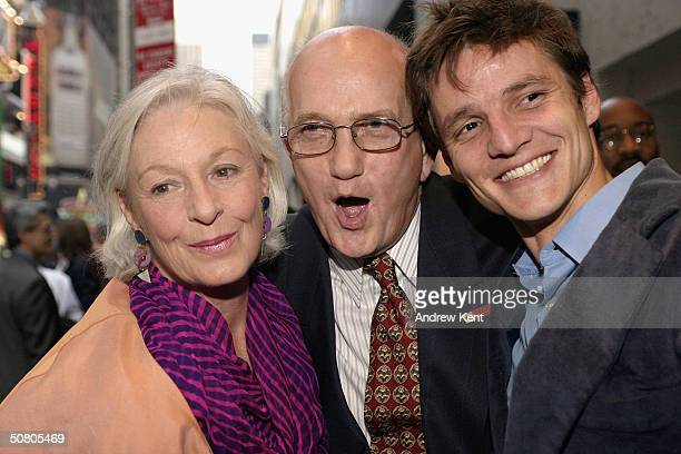 Jane Alexander Ed Sherin and Jace Alexander attend the opening night of Prymate in New York May 5 2004